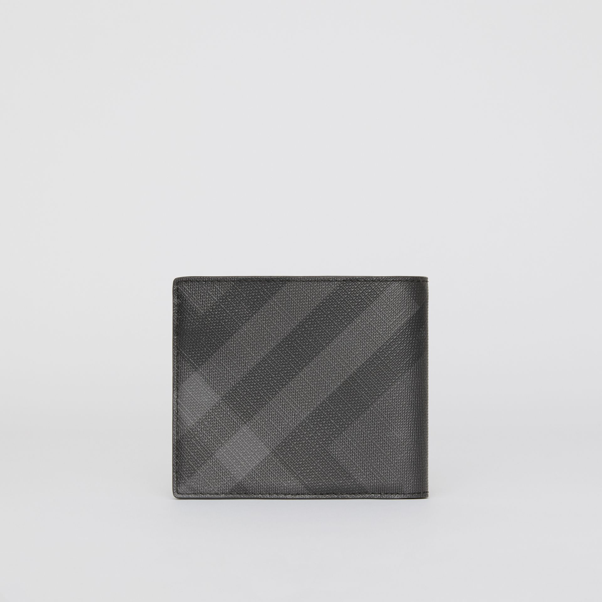 London Check ID Wallet in Charcoal/black - Men | Burberry - gallery image 2