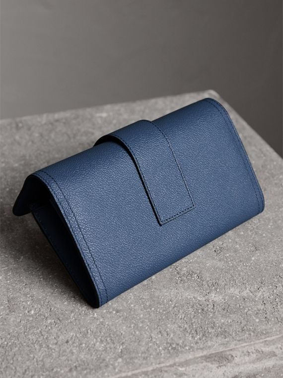 Textured Leather Continental Wallet in Steel Blue - Women | Burberry United Kingdom - cell image 2