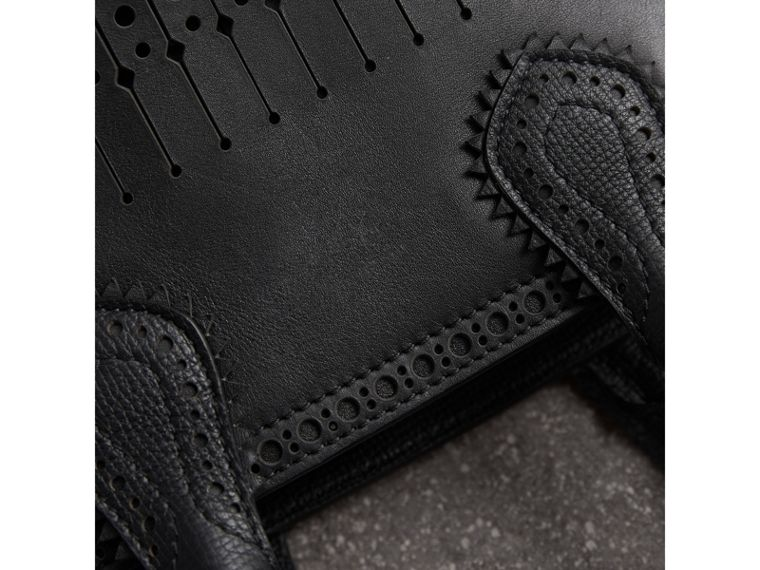 The Small Banner with Brogue Detail in Black - Women | Burberry Canada - cell image 1