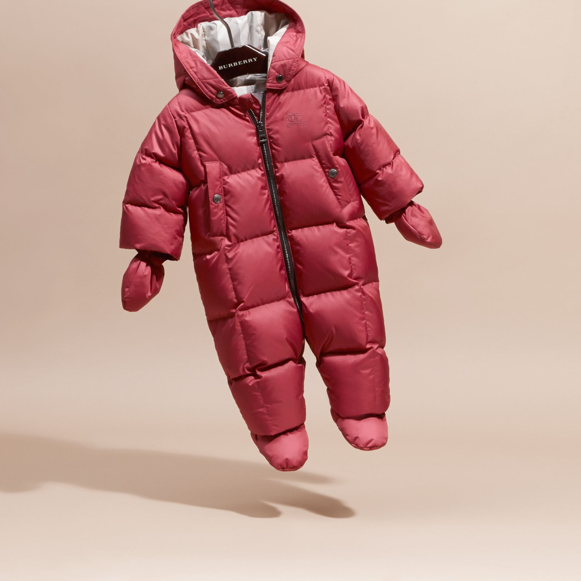 Down-filled Puffer Suit in Peony Rose | Burberry - gallery image 3