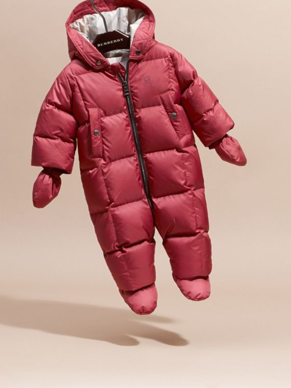 Down-filled Puffer Suit in Peony Rose - cell image 2