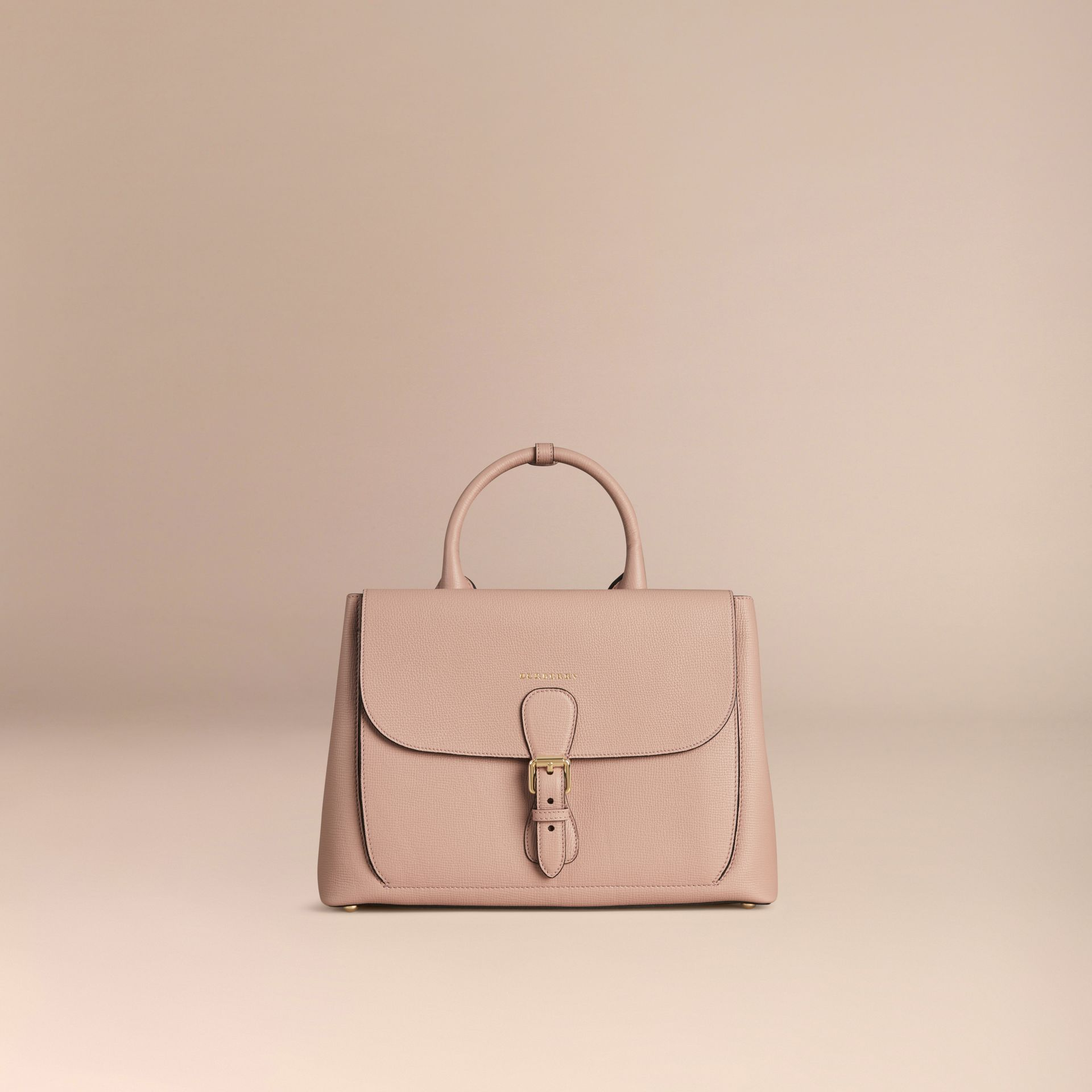 Pale orchid The Medium Saddle Bag in Grainy Bonded Leather Pale Orchid - gallery image 7