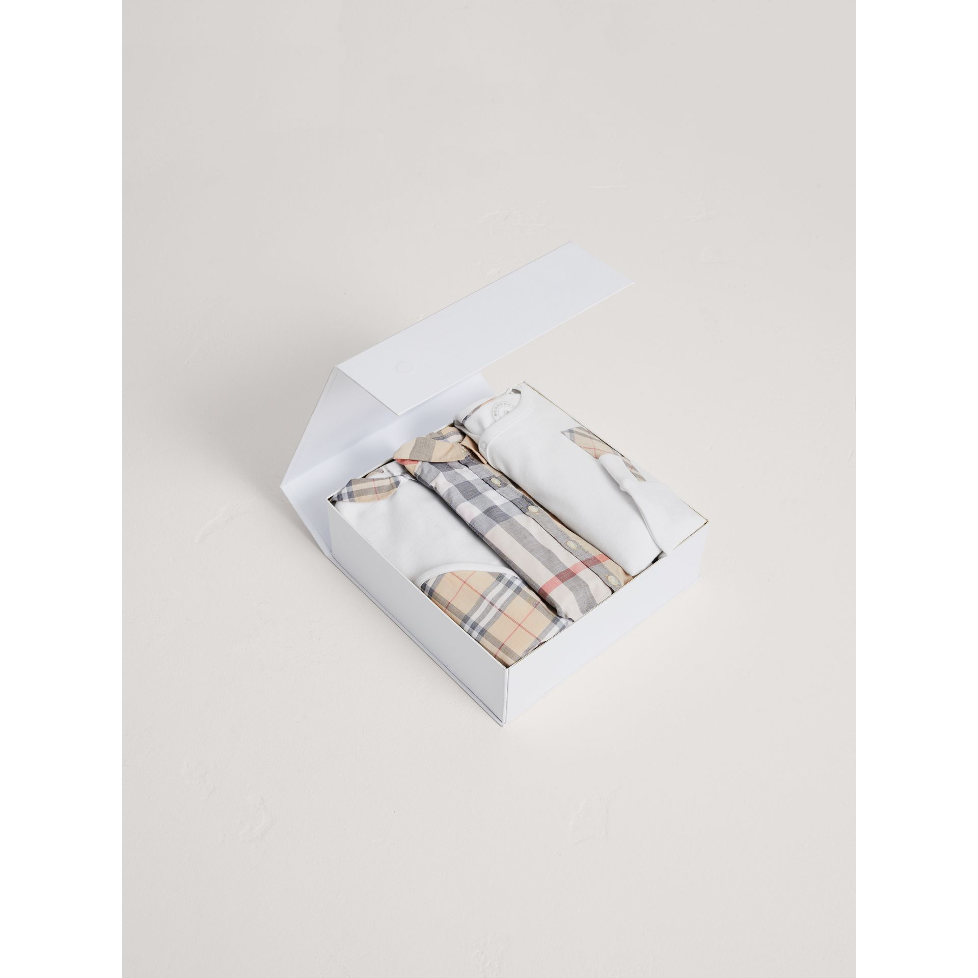 Cotton Six-piece Baby Gift Set in White - Children | Burberry Canada - gallery image 2