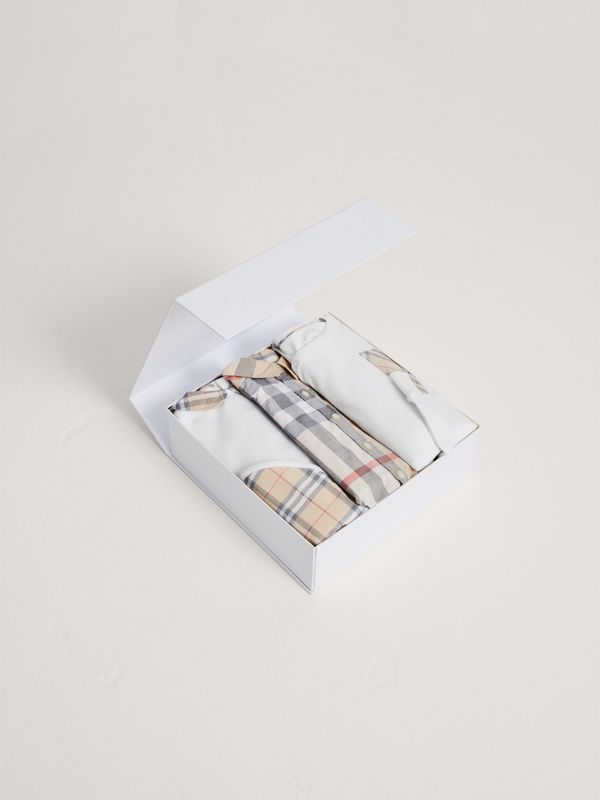 Cotton Six-piece Baby Gift Set in White - Children | Burberry - cell image 2