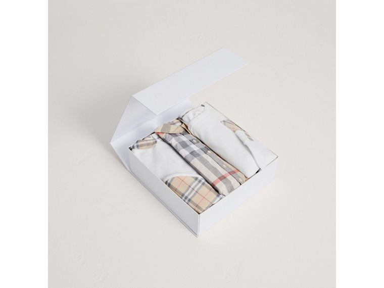 Cotton Six-piece Baby Gift Set in White - Children | Burberry United States - cell image 2