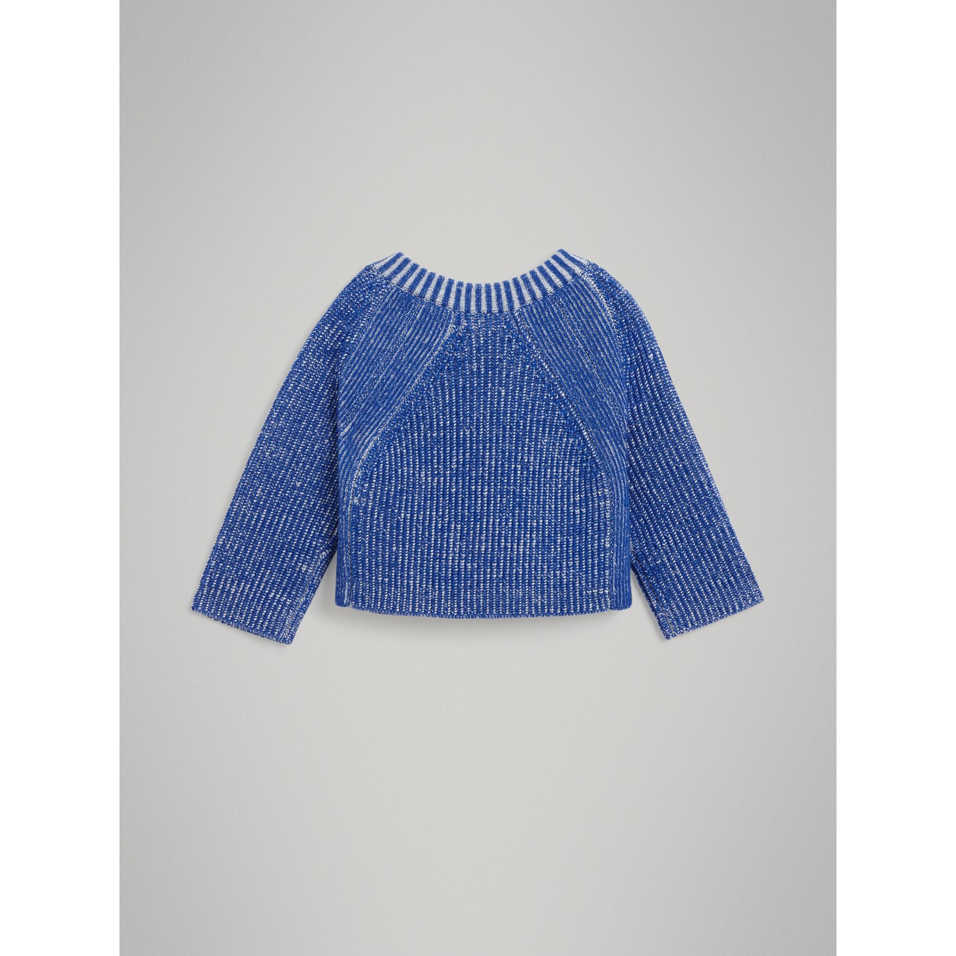 Rib Knit Merino Wool Sweater in Cerulean Blue - Children | Burberry - gallery image 3