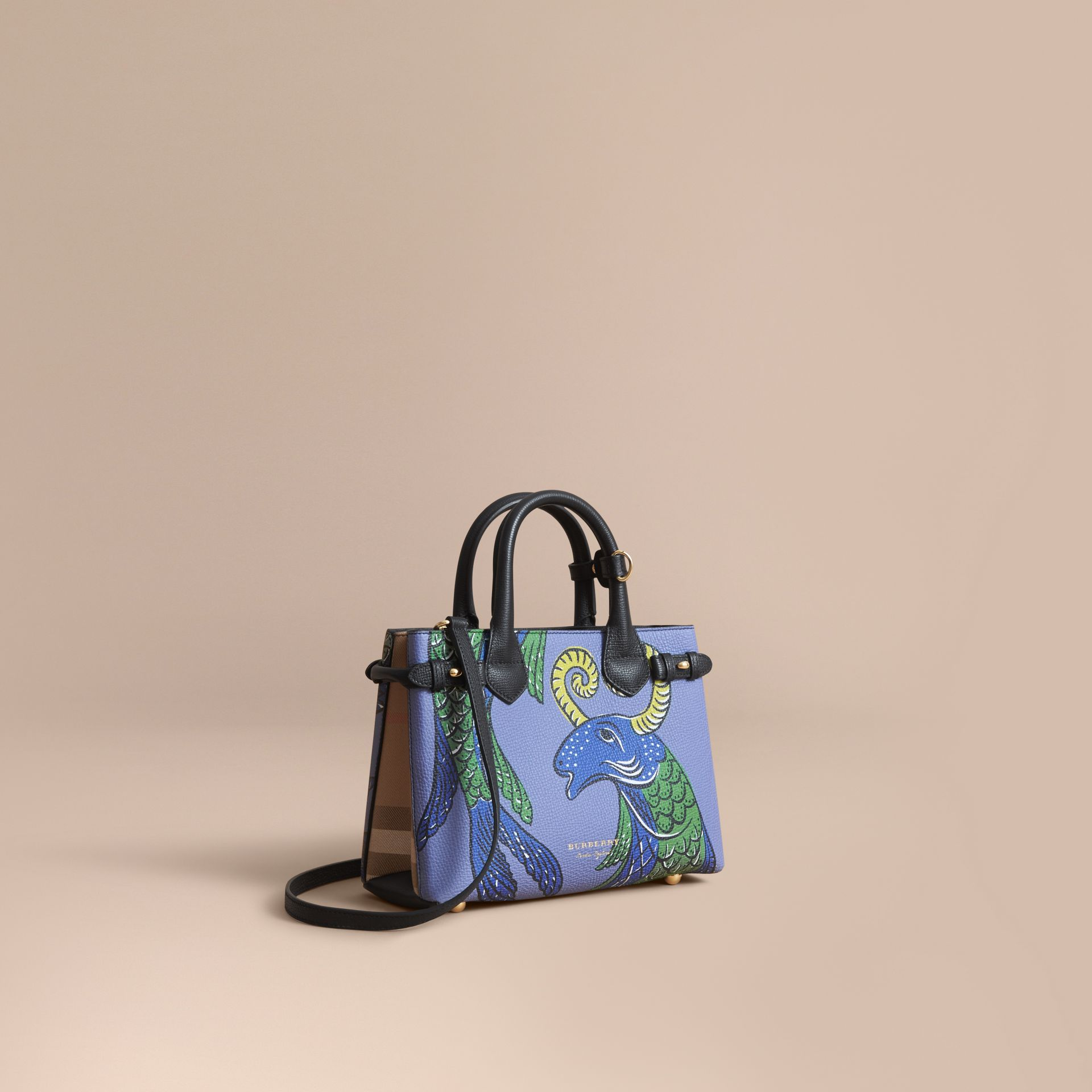 The Small Banner in Beasts Print Leather - Women | Burberry Australia - gallery image 1
