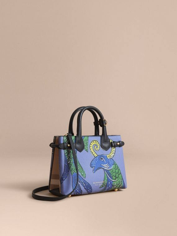 The Small Banner in Beasts Print Leather - Women | Burberry