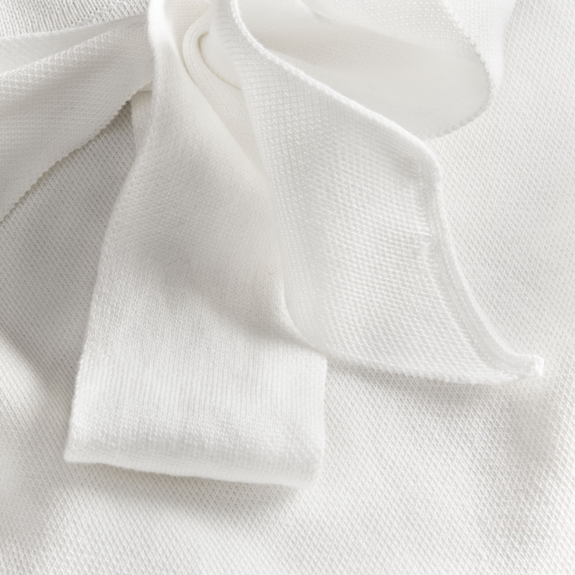 Natural white A-lIne Cotton Piqué Dress with Bow Detail - gallery image 2