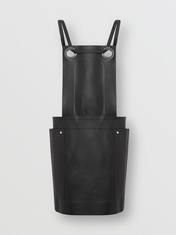 Eyelet Detail Leather Sleeveless Dress in Black - Women | Burberry - cell image 3
