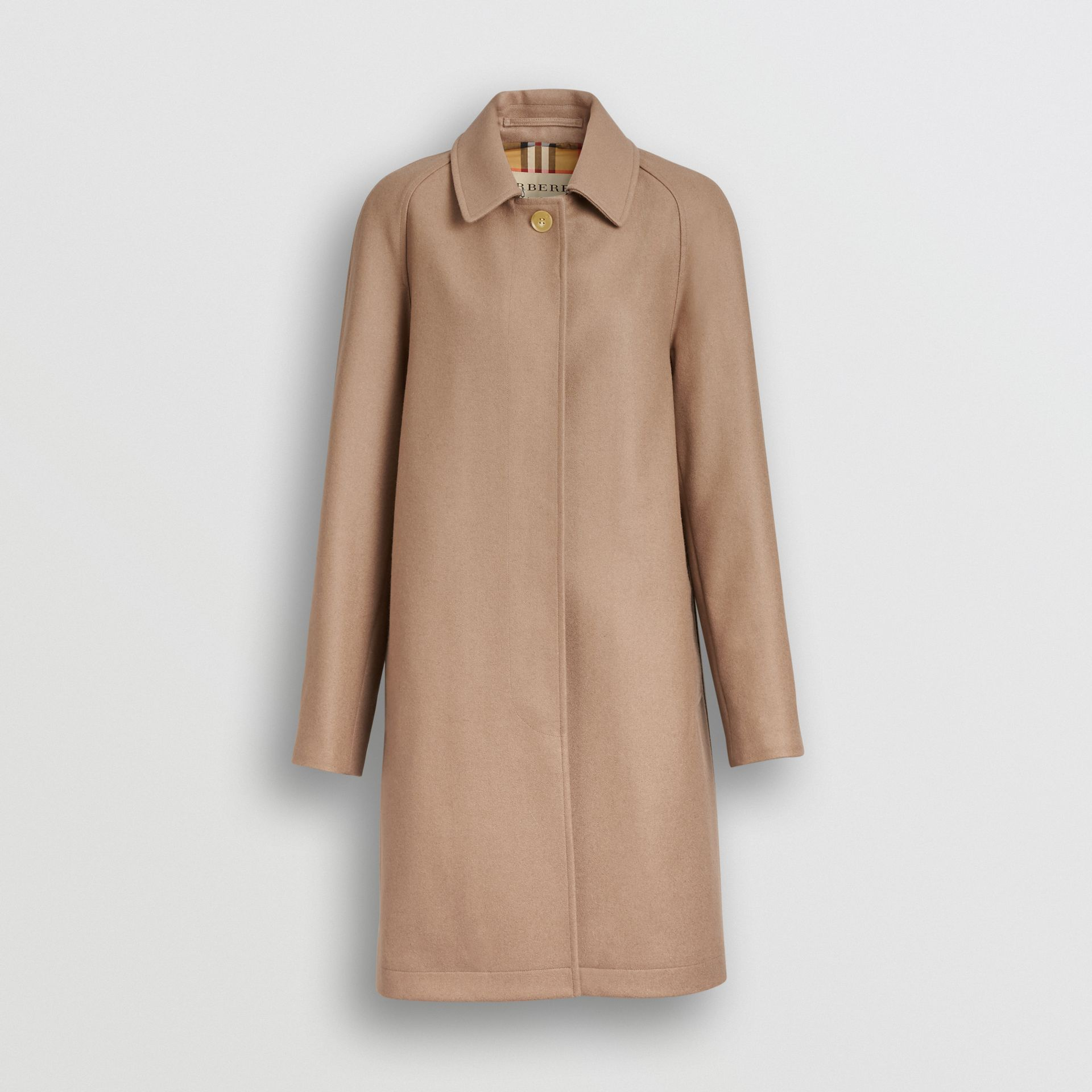 Cashmere Car Coat in Camel - Women | Burberry Australia - gallery image 3