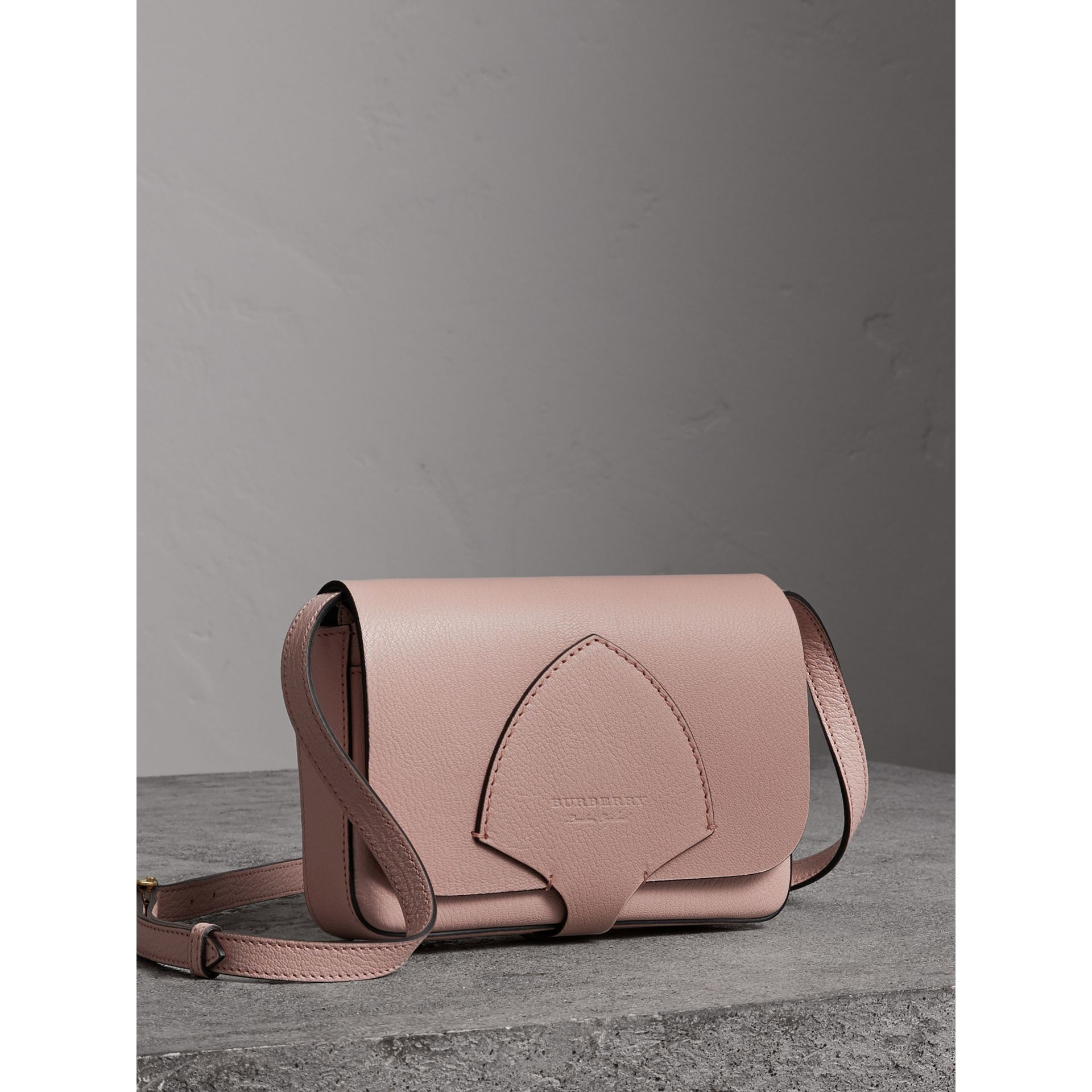 Equestrian Shield Leather Wallet with Detachable Strap in Pale Ash Rose - Women | Burberry Australia - gallery image 6