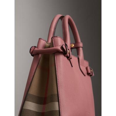 Burberry - Petit sac The Banner en cuir et coton House check - 2