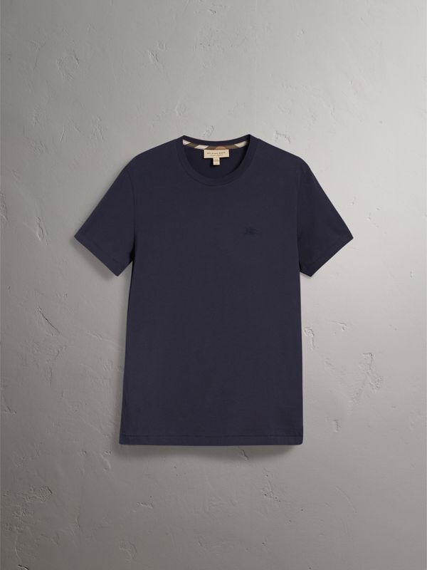Cotton Jersey T-shirt in Navy - Men | Burberry Canada - cell image 3