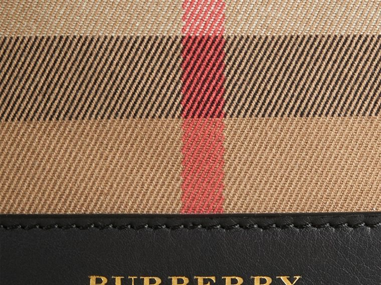 Nero Borsa Burberry Bucket con motivo House check e pelle Nero - cell image 1