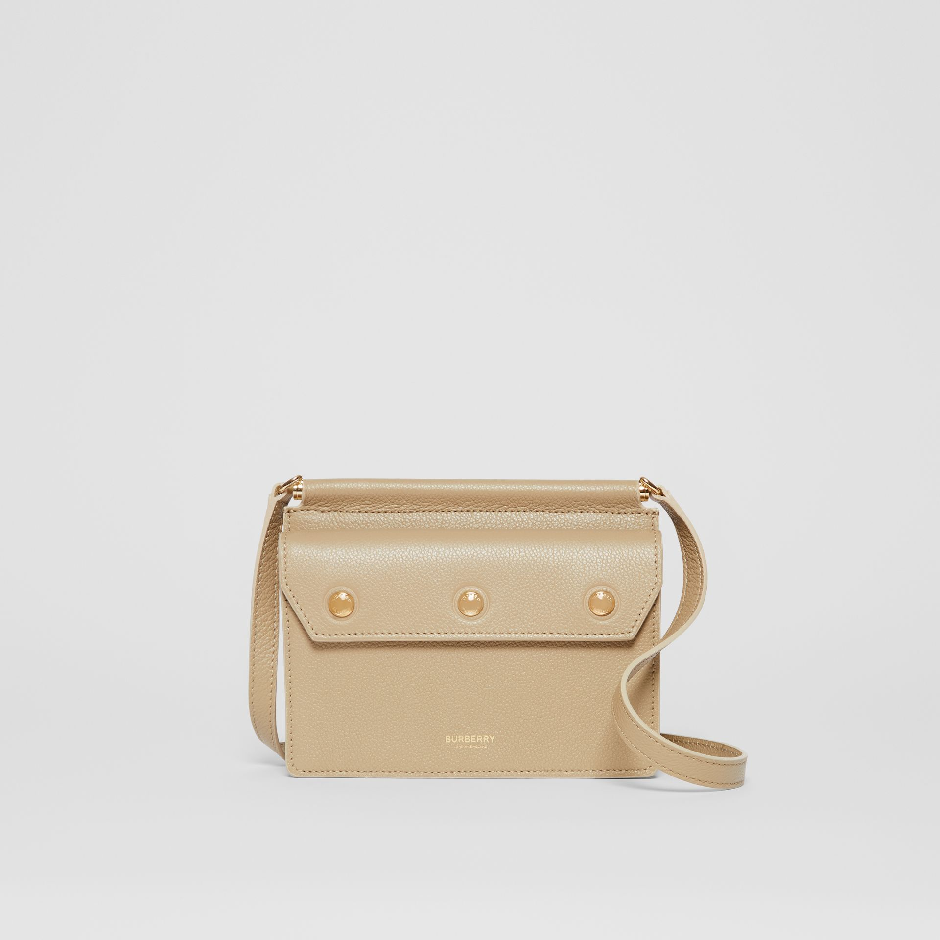 Mini Leather Title Bag in Honey - Women   Burberry United States - gallery image 0