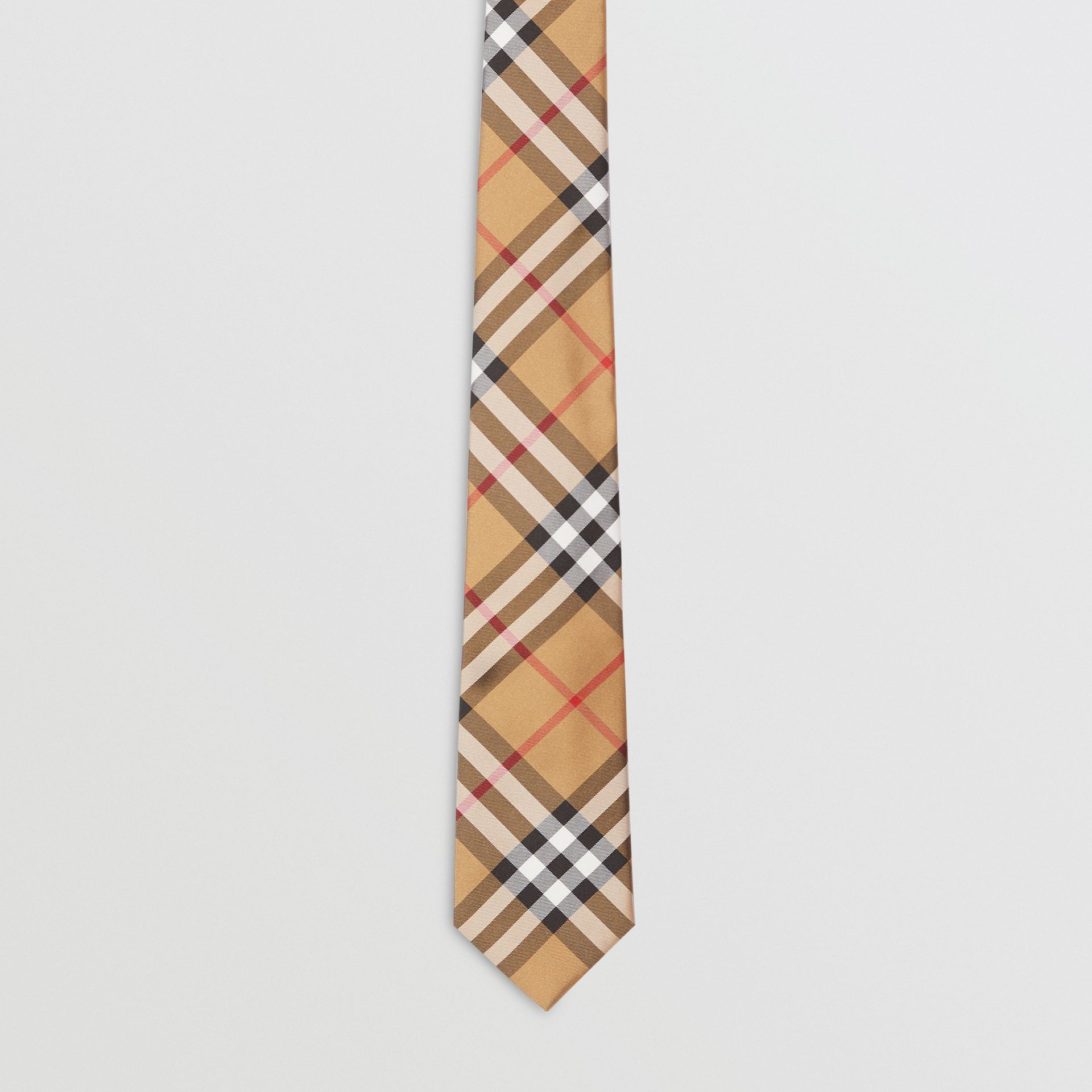 Modern Cut Vintage Check Silk Tie in Antique Yellow - Men | Burberry - gallery image 3