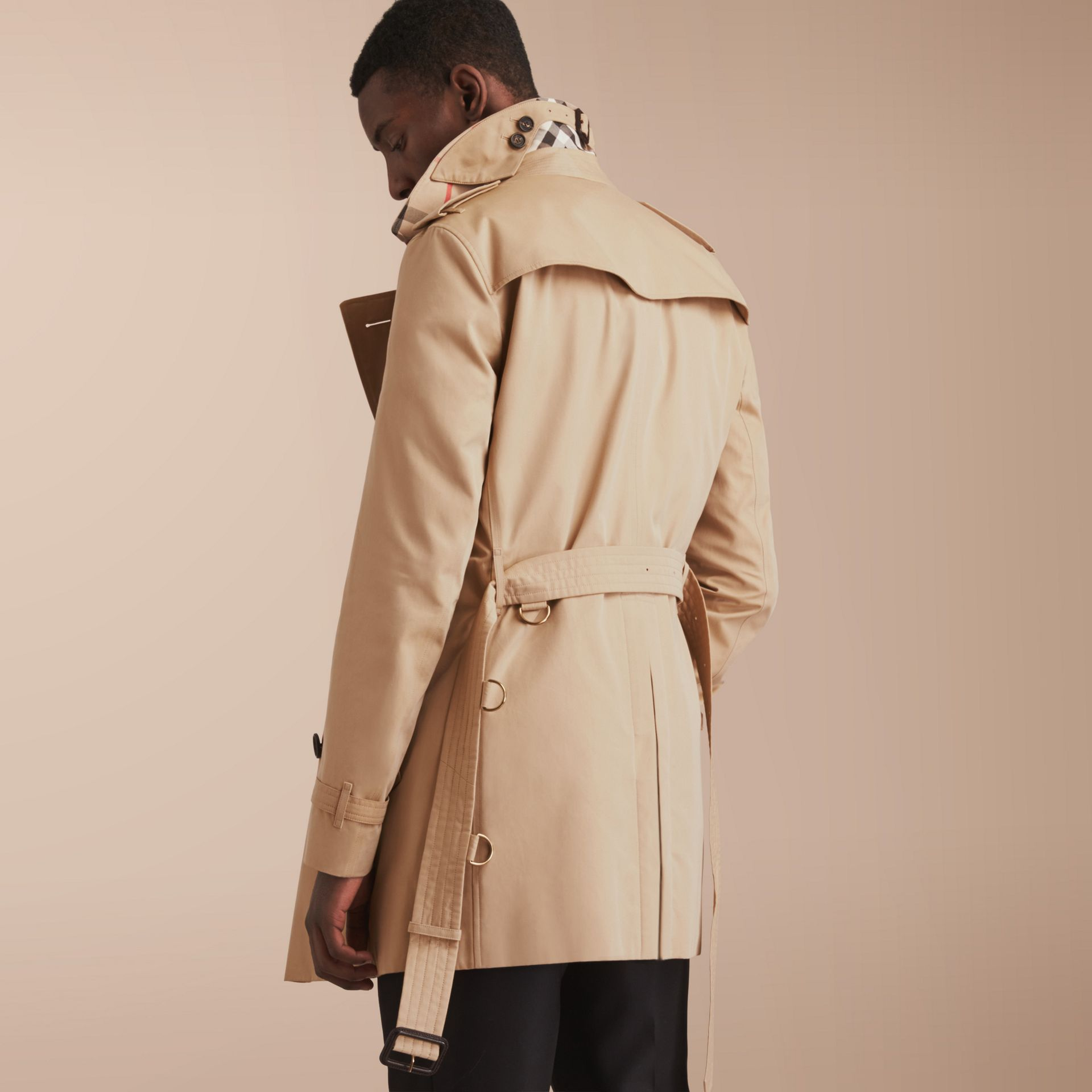 The Chelsea – Mid-length Heritage Trench Coat Honey - gallery image 3
