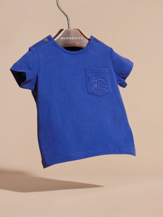 Bright lapis Crew Neck Cotton T-Shirt Bright Lapis - cell image 2