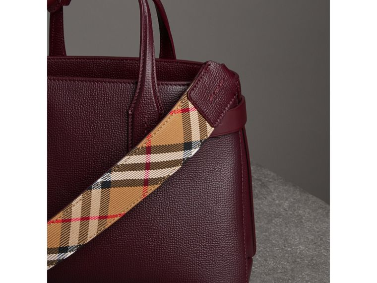 The Small Banner in Leather in Mahogany Red - Women | Burberry - cell image 4