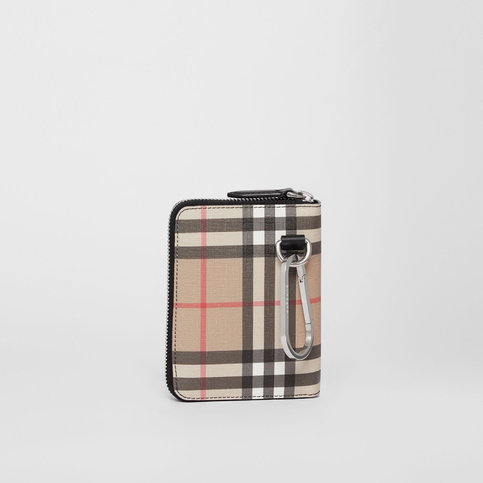 Vintage Check E-canvas Ziparound Wallet in Black - Women | Burberry - gallery image 4
