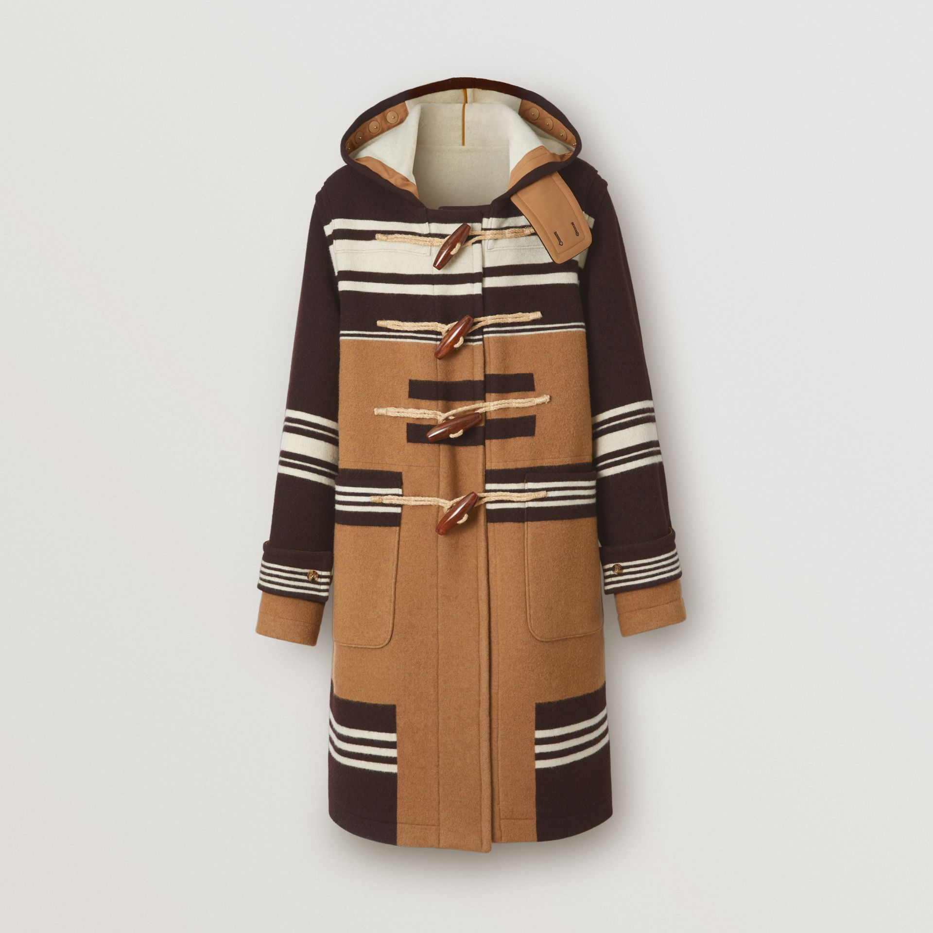 Stripe Detail Wool Duffle Coat in Camel - Men | Burberry Hong Kong S.A.R - gallery image 2