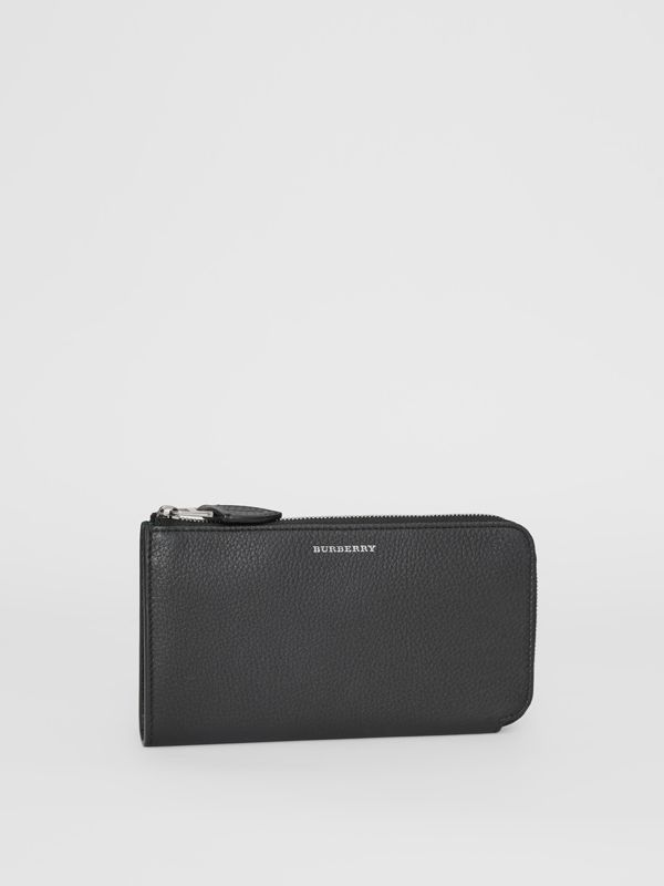 Two-tone Leather Ziparound Wallet and Coin Case in Black - Women | Burberry United States - cell image 3