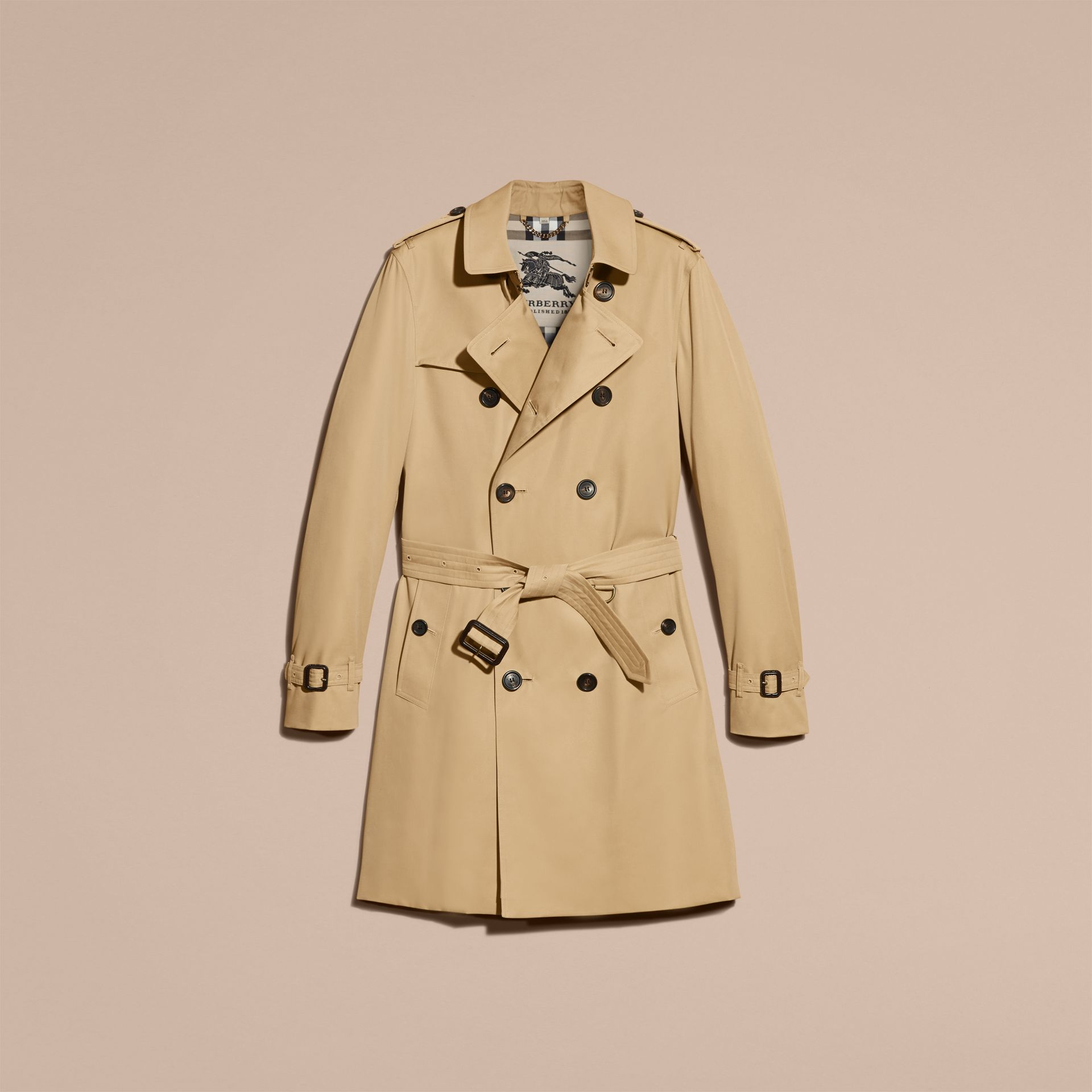 Miel The Sandringham – Trench-coat Heritage long Miel - photo de la galerie 4