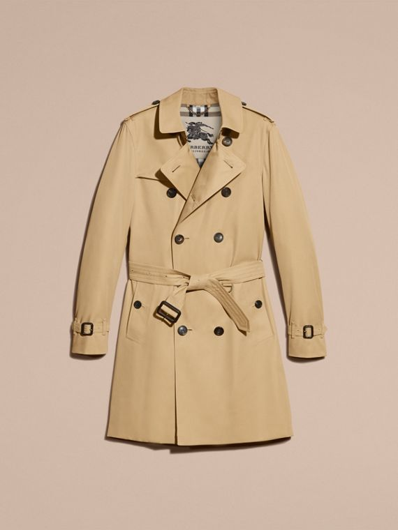 Miel Trench coat Sandringham - Trench coat Heritage largo Miel - cell image 3