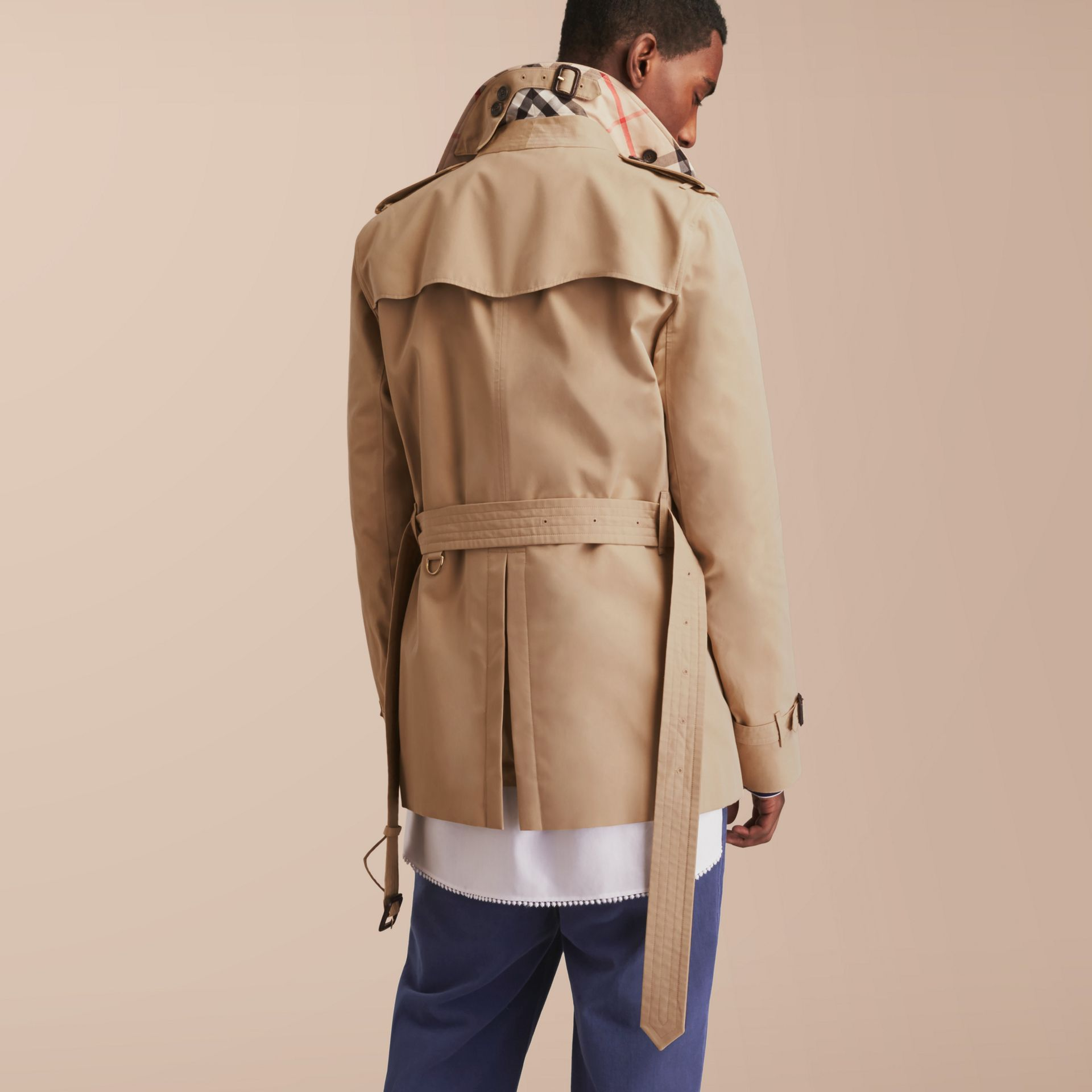 The Kensington – Short Heritage Trench Coat Honey - gallery image 3