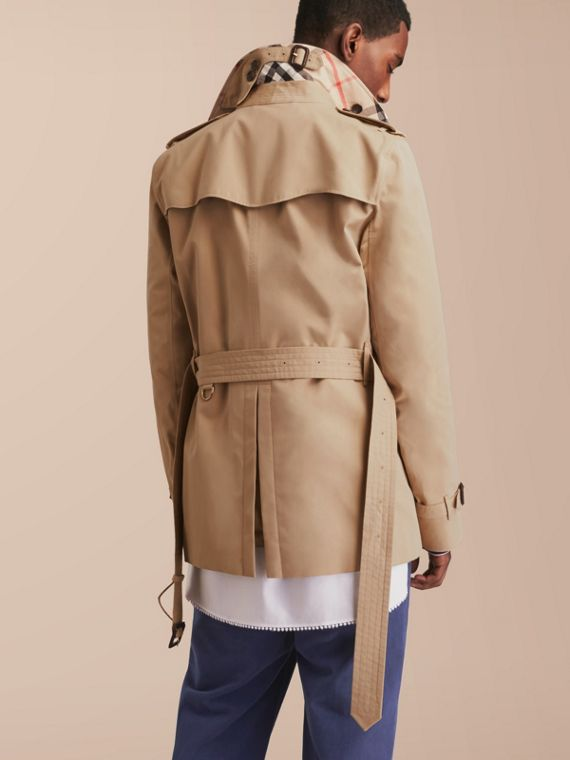 The Kensington – Short Heritage Trench Coat in Honey - cell image 2