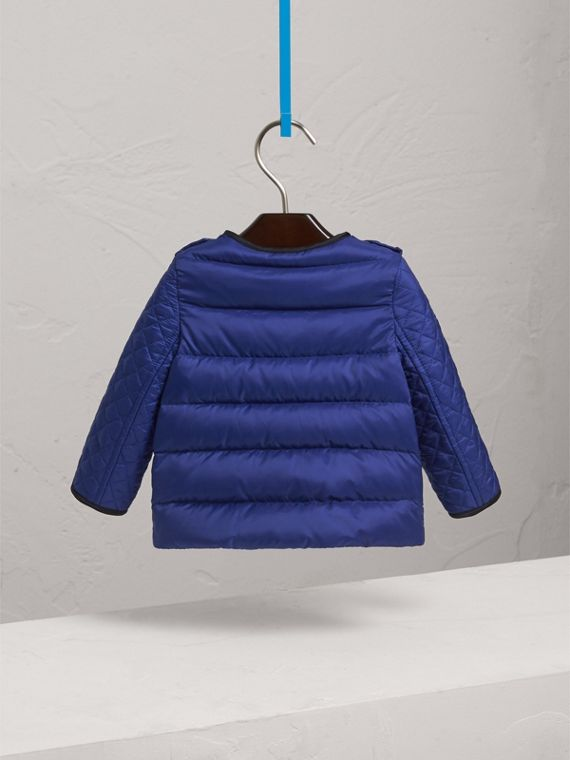 Down-filled Quilted Jacket in Dark Cobalt | Burberry - cell image 3