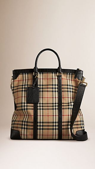 Horseferry Check Alligator Tote Bag