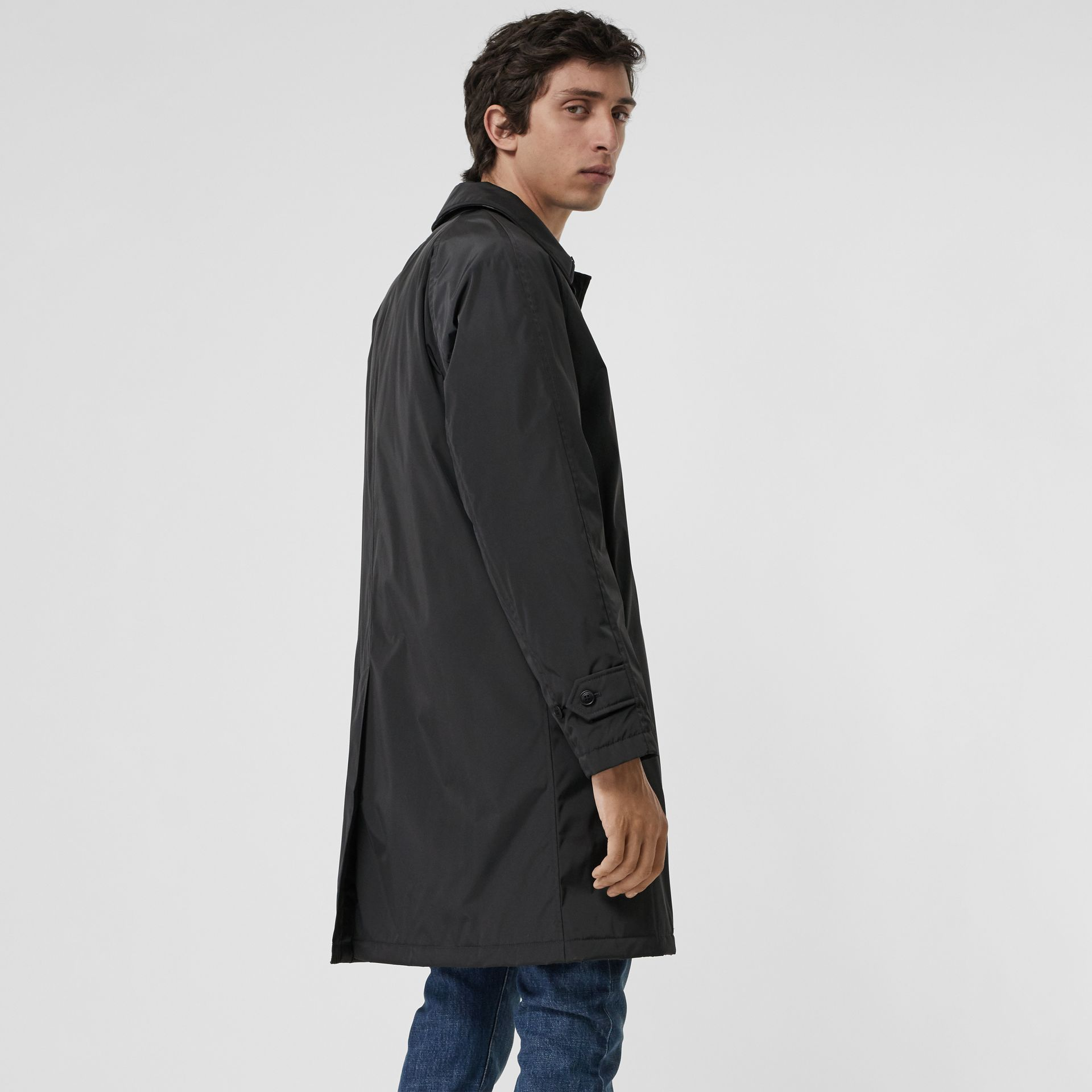 Quilt-lined Nylon Car Coat in Dark Charcoal - Men | Burberry Singapore - gallery image 2