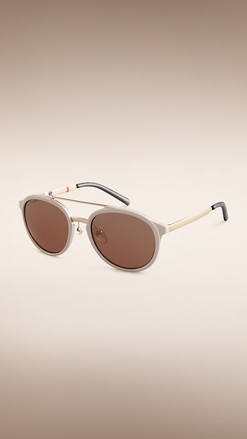 Honey Trench Collection Round Frame Sunglasses - Image 1