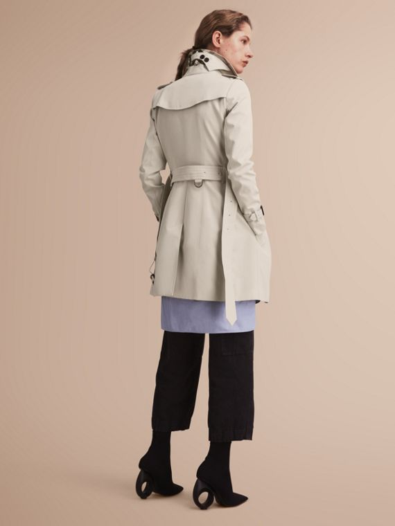 The Chelsea – Mid-length Heritage Trench Coat Stone - cell image 2