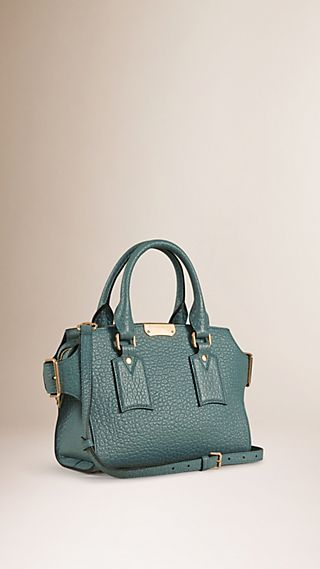 The Small Clifton in Signature Grain Leather Celadon Blue