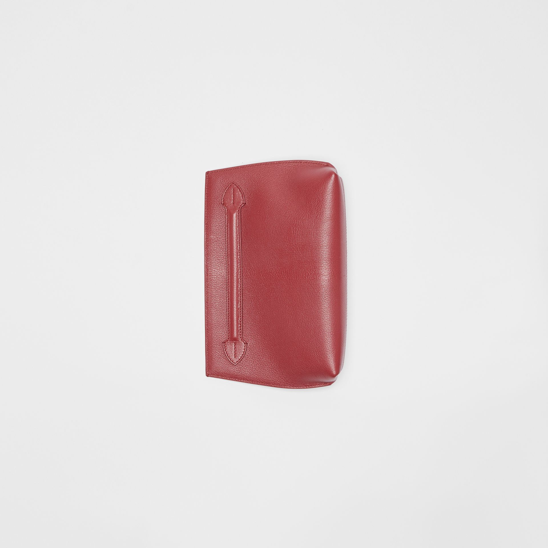 Grainy Leather Wristlet Clutch in Crimson - Women | Burberry United States - gallery image 4