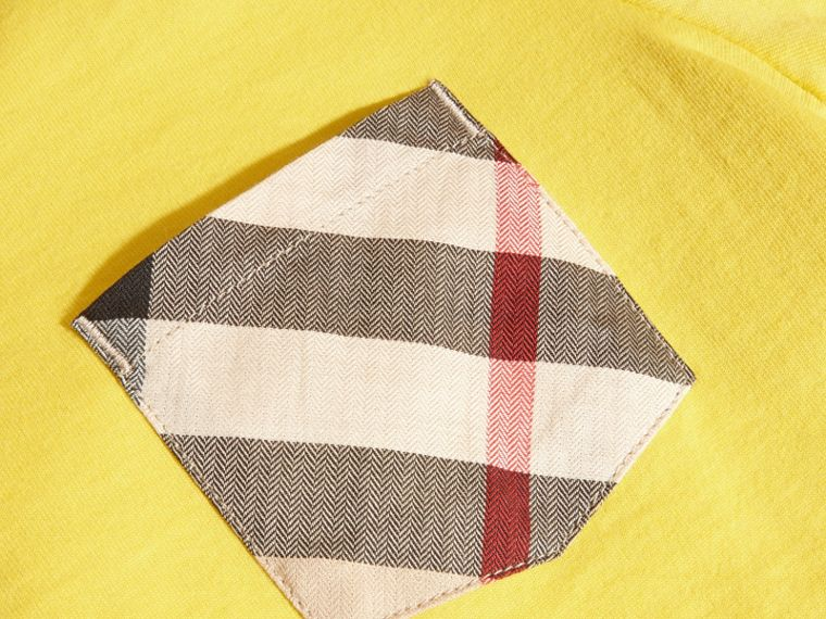 Bright yellow Check Pocket T-Shirt Bright Yellow - cell image 1