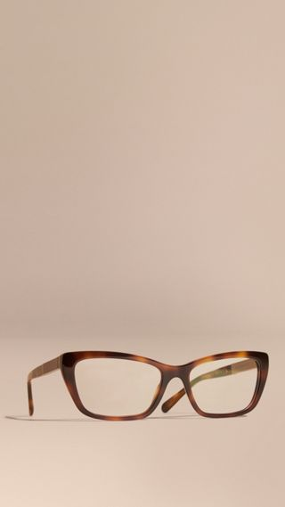 Check Detail Rectangular Cat-eye Optical Frames