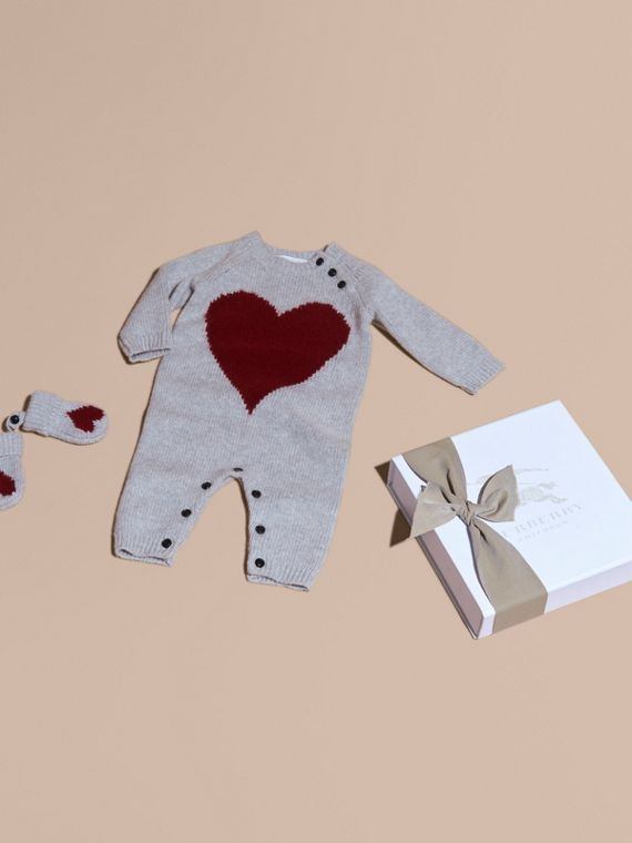 Heart Intarsia Cashmere Two-piece Gift Set
