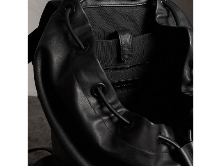 The Large Rucksack in Water-repellent Leather in Black - Men | Burberry - cell image 4