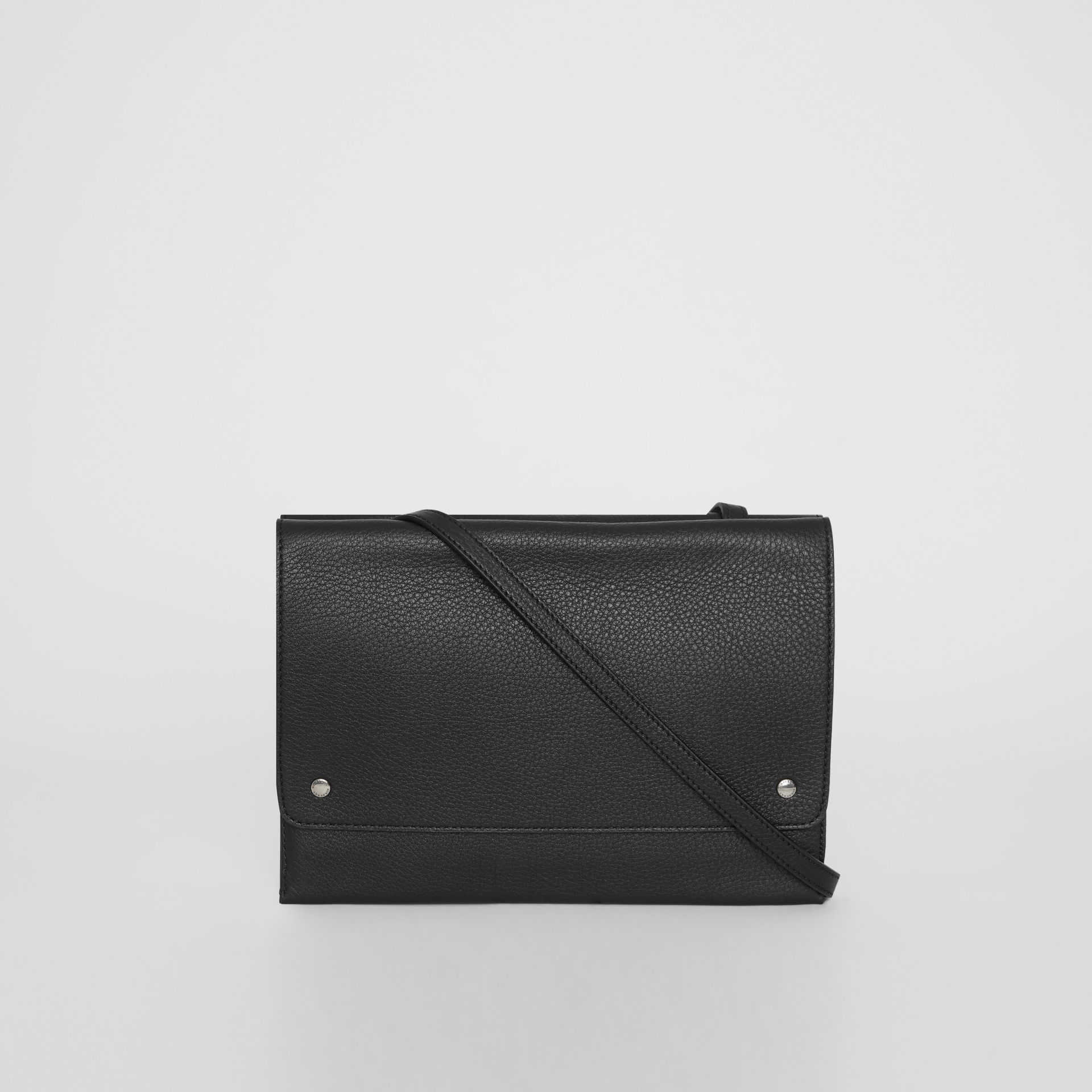 Leather Envelope Crossbody Bag in Black - Women | Burberry United States - gallery image 7