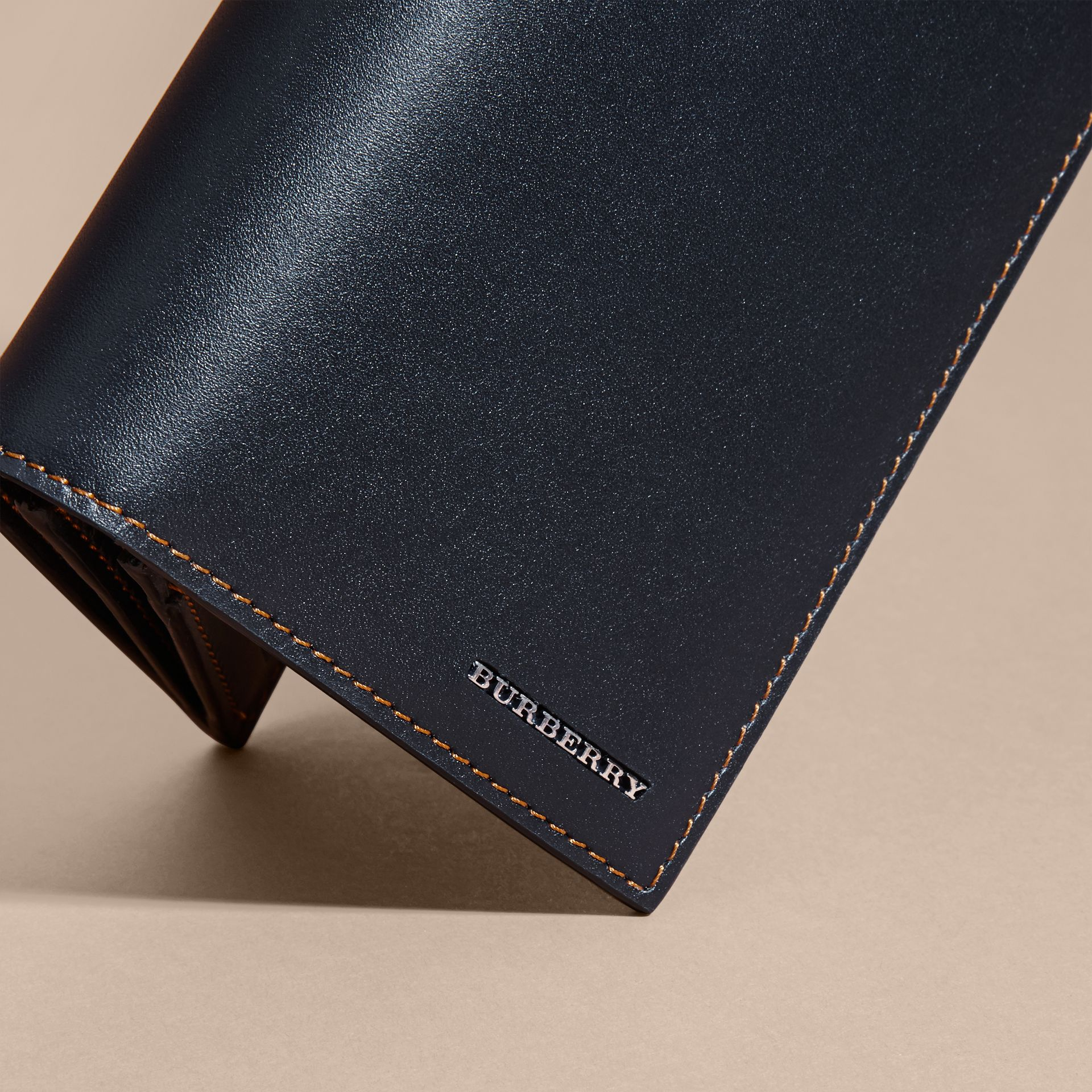 Dark navy Smooth Leather Continental Wallet Dark Navy - gallery image 2