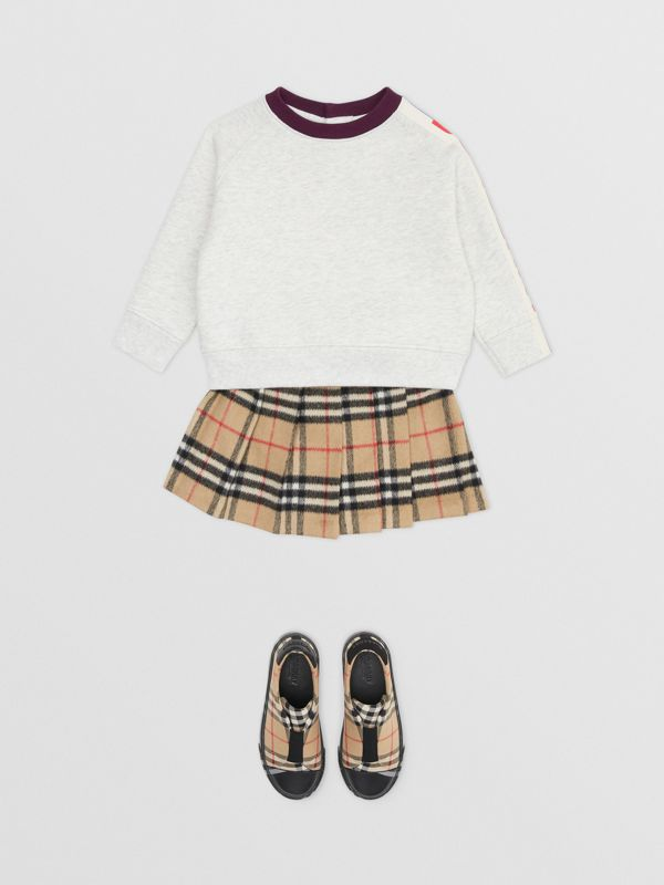 Logo Print Jersey Sweatshirt in White Melange - Children | Burberry - cell image 2