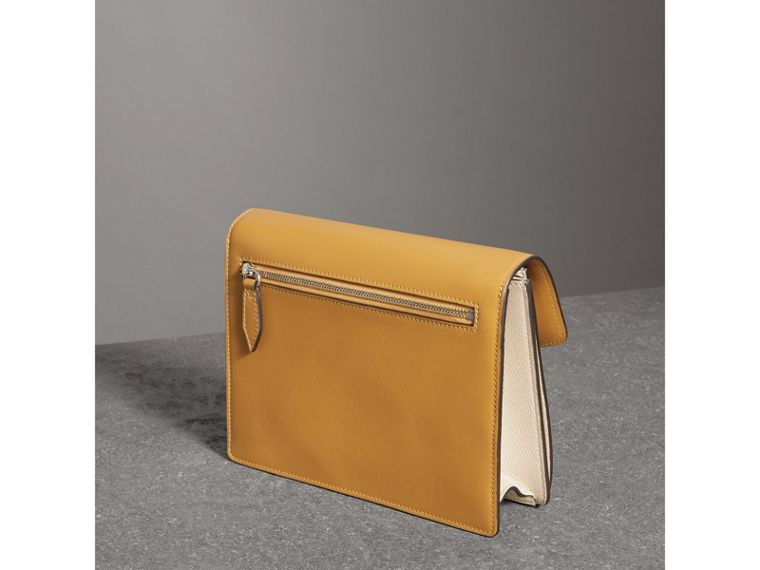 Two-tone Leather Crossbody Bag in Limestone/cornflower Yellow - Women | Burberry Singapore - cell image 4
