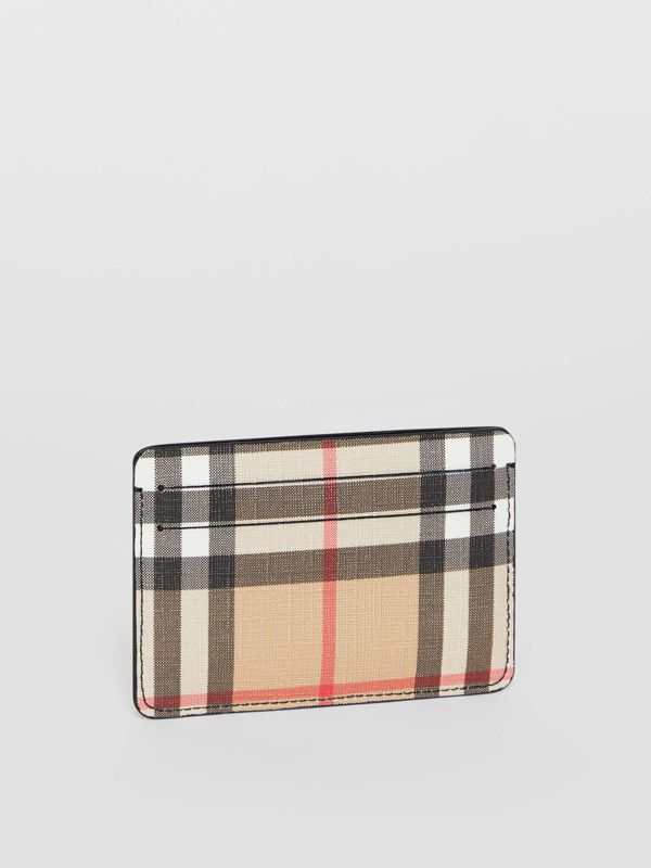 Vintage Check E-canvas Card Case in Black - Women | Burberry United States - cell image 3