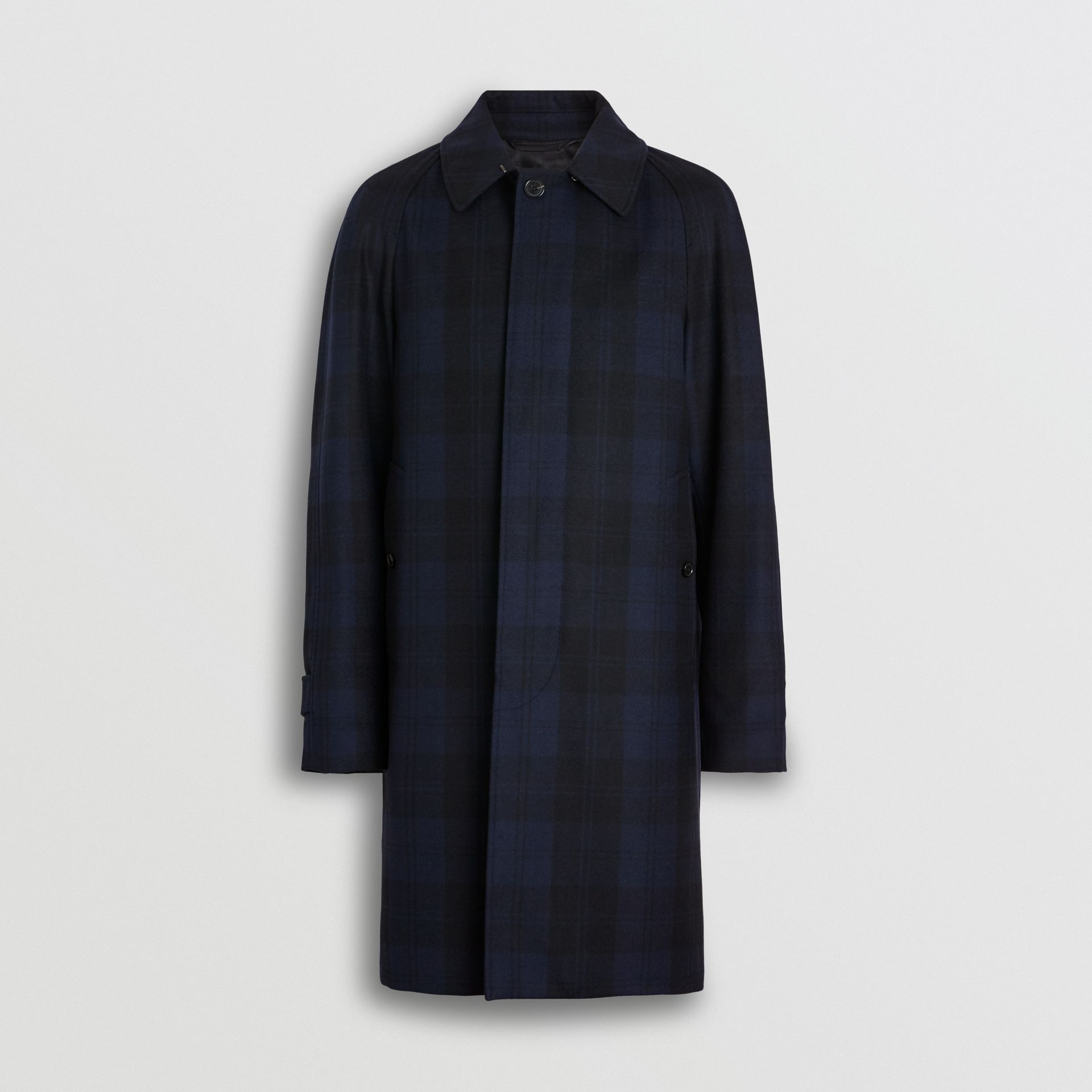 Check Cashmere Car Coat in Navy - Men | Burberry - gallery image 3