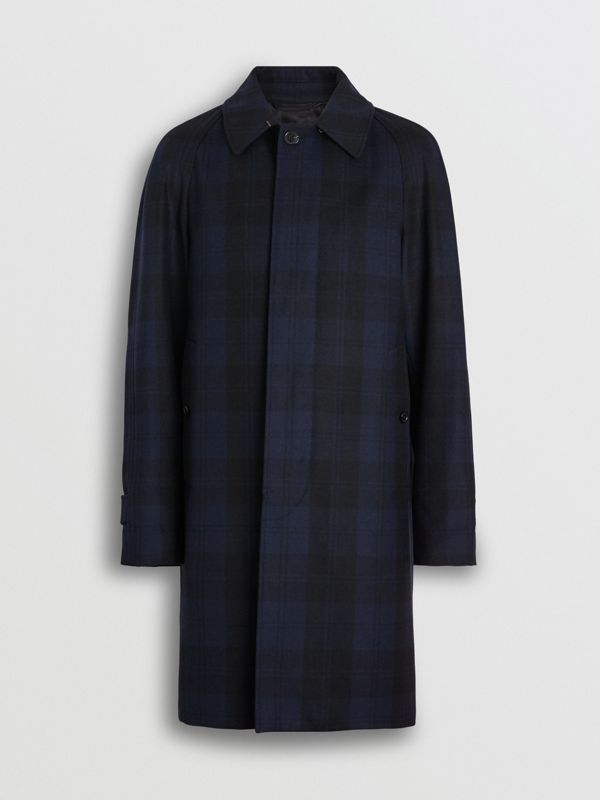 Check Cashmere Car Coat in Navy - Men | Burberry - cell image 3