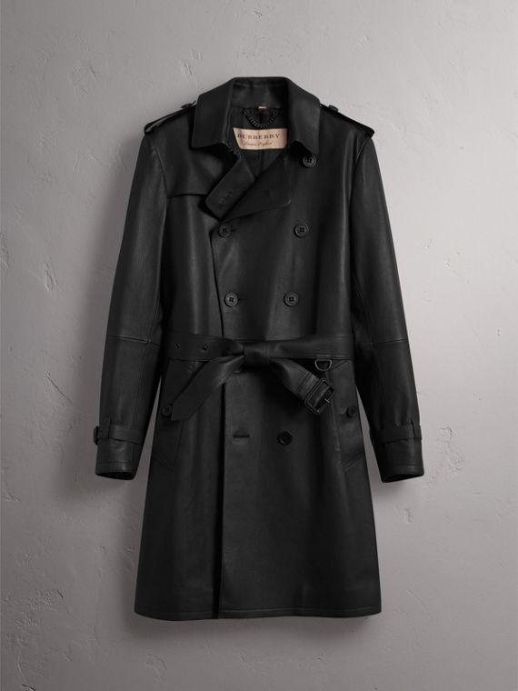 Lambskin Trench Coat - Men | Burberry - cell image 3